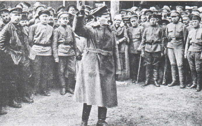 """leon trotsky and the treaty of Leon trotsky, head of the soviet delegation since january 9, called for a recess (january 18–30) he returned to petrograd where he persuaded the reluctant bolsheviks (including lenin) to adopt a policy under which russia would leave the war but sign no peace treaty (""""neither war nor peace"""")."""