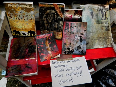 Freedom Bookshop Fire Bombed