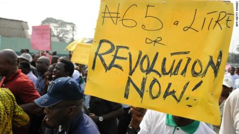 Nigerian fuel protest