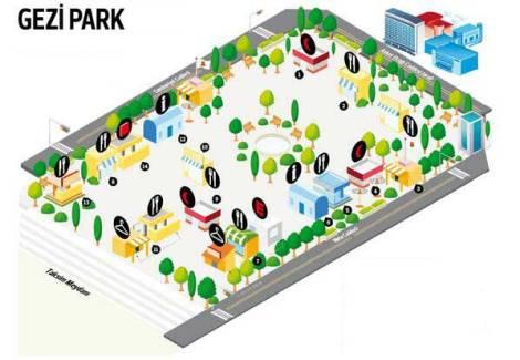 Gezi Park Map