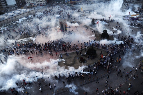 Tear gas in Taksim Square