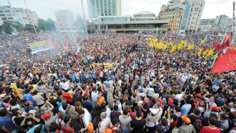 Protest in Taksim Square