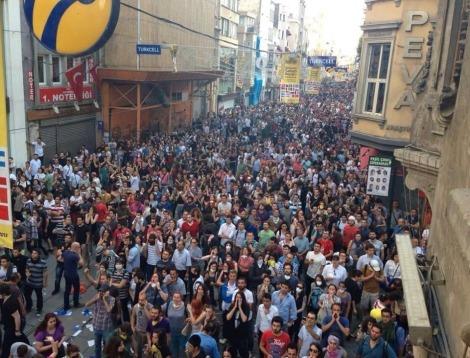 Manifestantes turcos