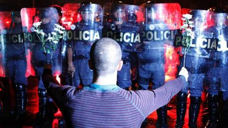 Brazil Police Movimento-Passe-Livre