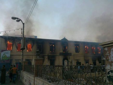 Egypt in flames