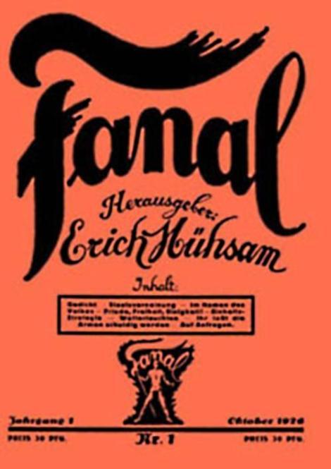 Mühsam's paper, Fanal