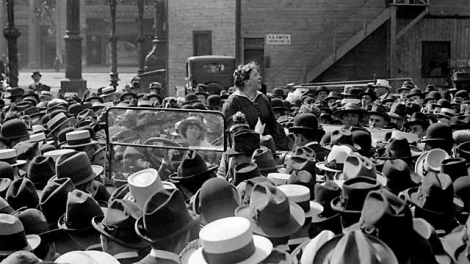 Emma Goldman Speaking at Anti-Conscription Rally
