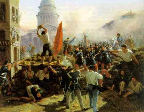 1848 Horace_Vernet-Barricade_rue_Soufflot
