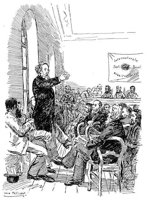 Bakunin speaking at the Basel Congress 1869