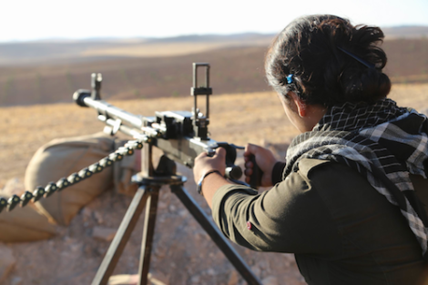Kurdish Woman Defending Kobani