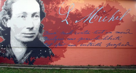 Louise Michel wall mural