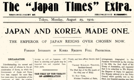 Japan annexes Korea
