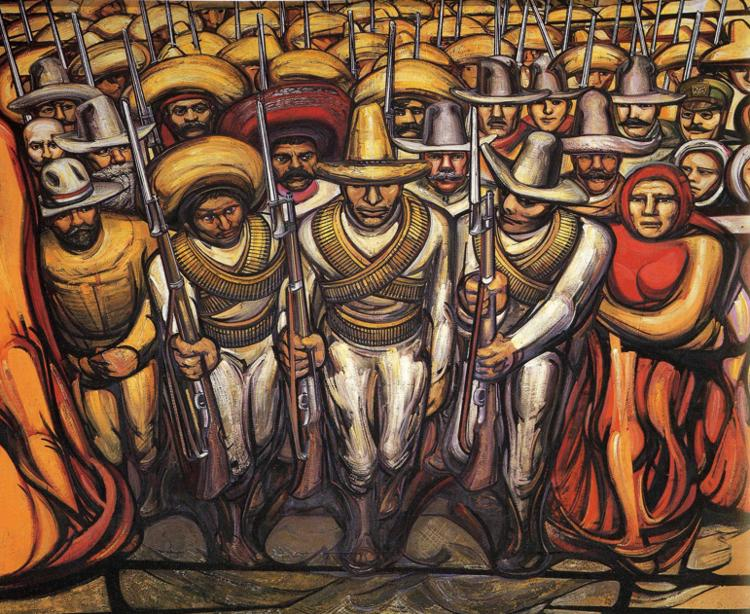 The 1910 mexican revolution robert graham 39 s anarchism weblog for Arte mural mexicano