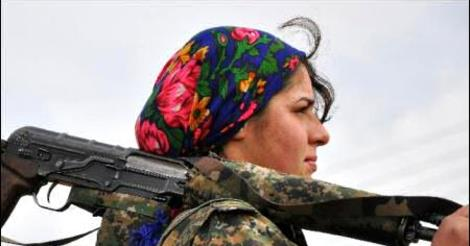 kobane female soldier.php