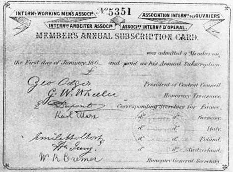 IWMA membership card