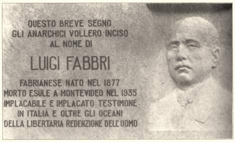 Luigi Fabbri Memorial Plaque
