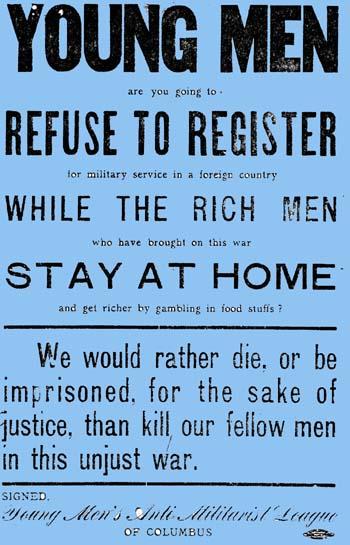 Anti-Militarist Poster