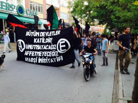Turkish anarchist demonstration