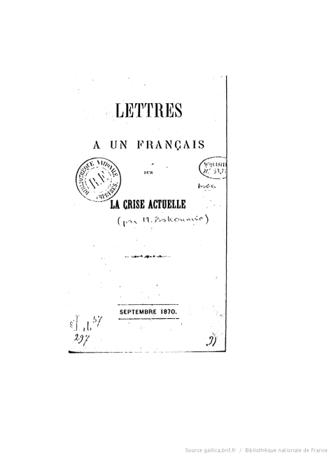 bakunin letters to a frenchman