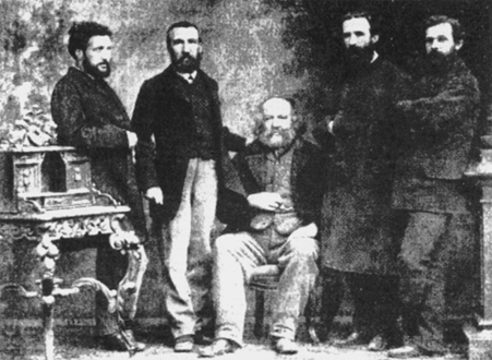 Bakunin & Fanelli with other Internationalists