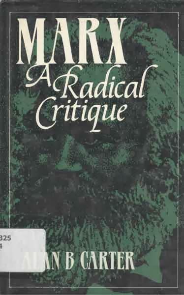Alan Carter's anarchist critique of Marxism