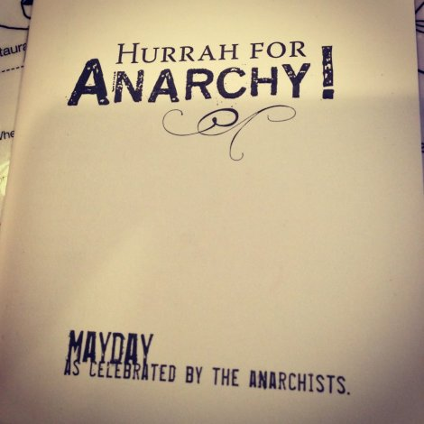 hurrah for anarchy