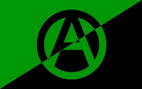eco anarchist flag