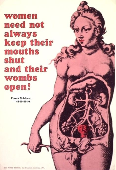 emma goldman womb quote