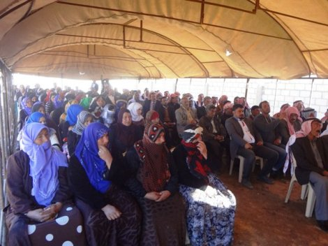 A communal assembly in Rojava
