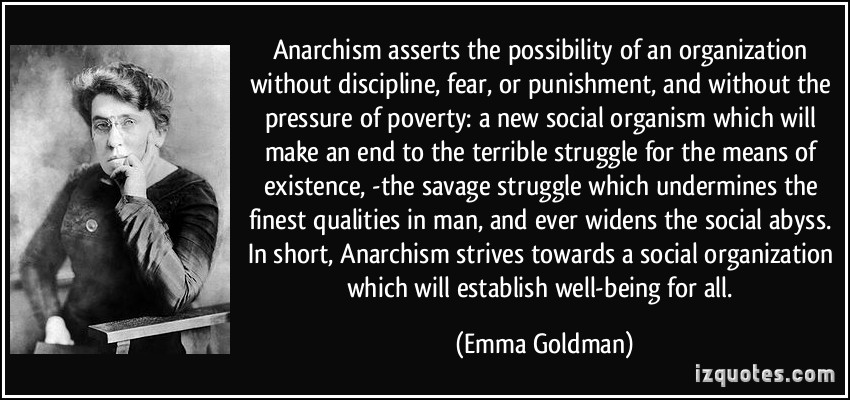 Anarchism emma goldman