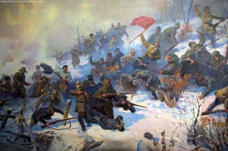 Russian Civil War battle scene