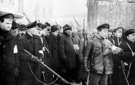 Revolutionaries in St. Petersburg - March 1917